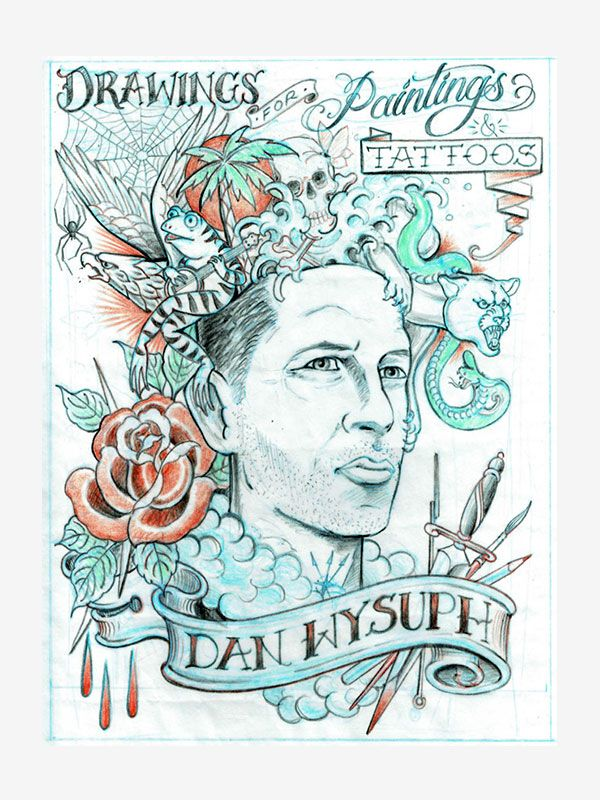 Drawings for Paintings and Tattoos by Dan Wysuph, Tattoo eBook
