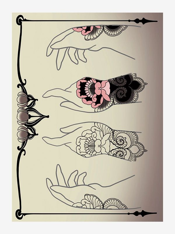 Hands and Ornaments by Vale Lovette tattoo eBook
