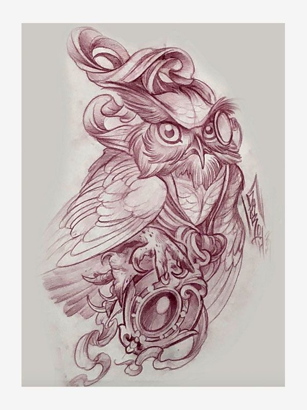 Sketchbook by Clint Danroth, tattoo eBook
