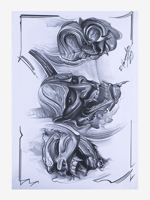 Sketch and Drawing by Robert Hernandez tattoo ebook
