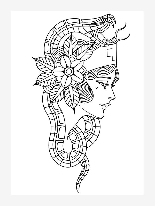 Tattoo Line Drawing by Cedric Weber
