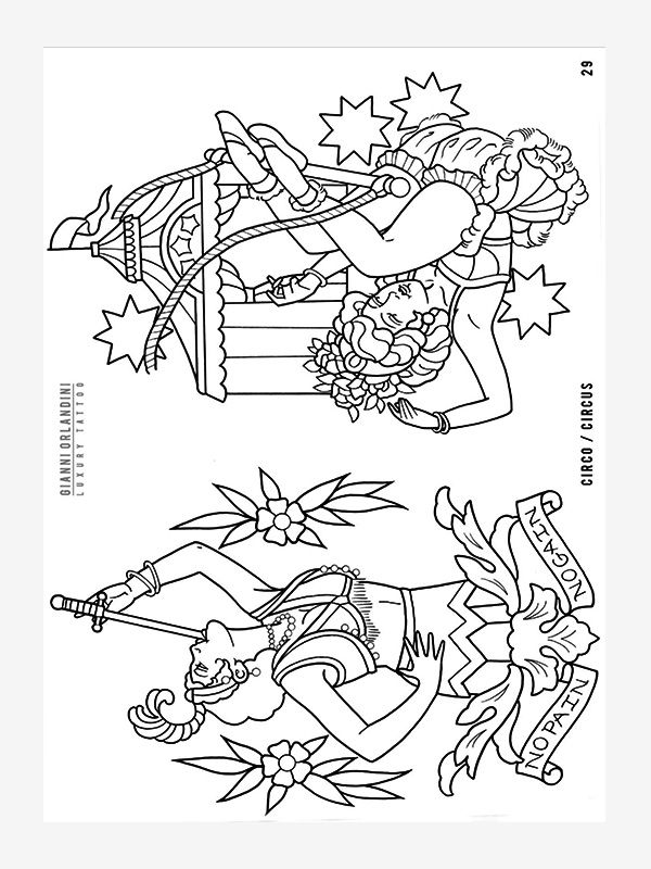 Outlines by Gianni Orlandini tattoo eBook
