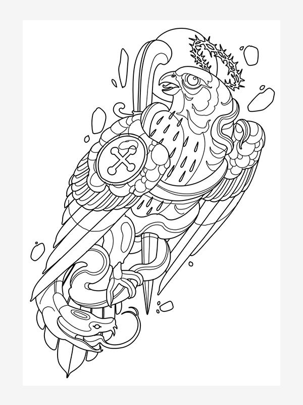 Sketchbook by KasasInk, tattoo ebook